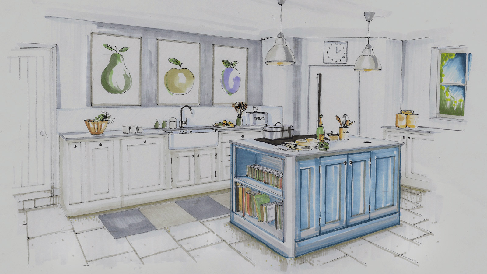 Pemberton kitchen sketch